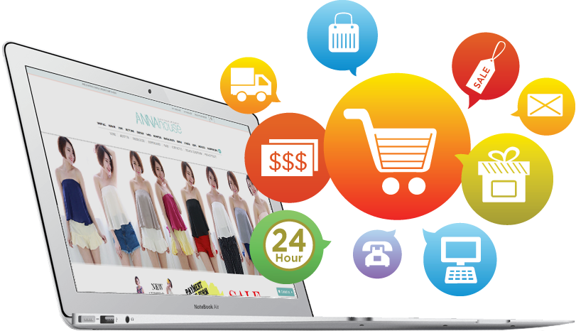 Ecommerce shopping cart web design malaysia jinz for Best online store website